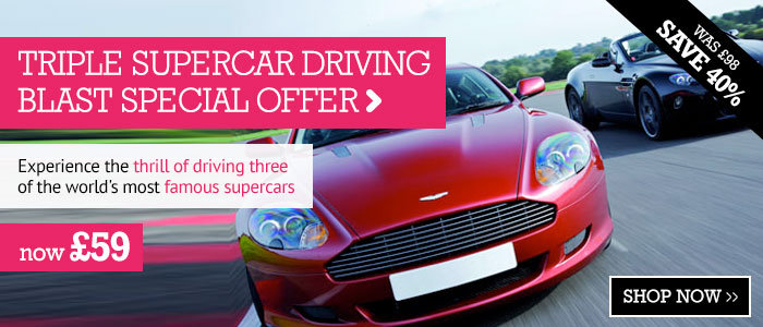 Triple Supercar Driving Blast Special Offer only £59