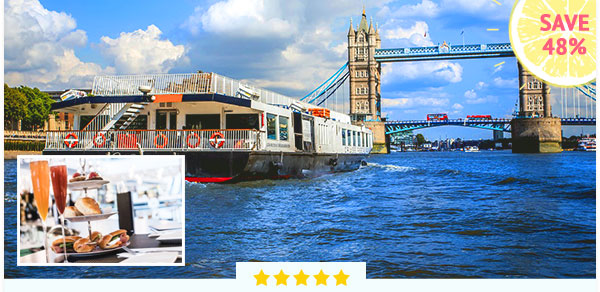 2 for 1 River Cruise & Bellini Afternoon Treat at Searcy's - Was £85, Now £44