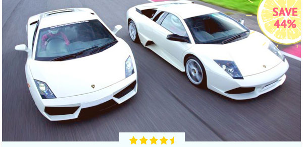 Lamborghini Driving Thrill with Passenger Ride - Was £124, Now £69