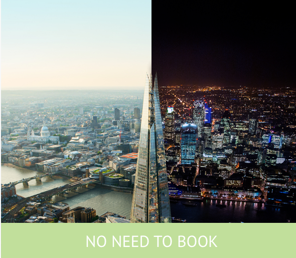 The View from The Shard Day and Night Tickets for Two Adults and One Child Only £116.85
