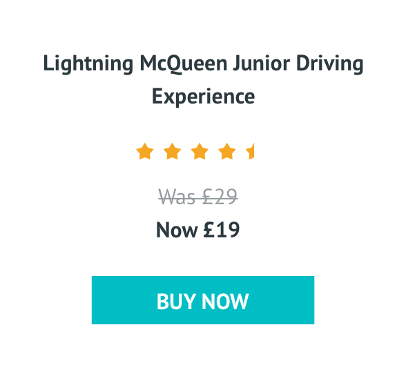 Lightning McQueen Junior Driving Experience Was £29 Now £19