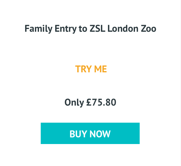 Family Entry to ZSL London Zoo Only £75.80