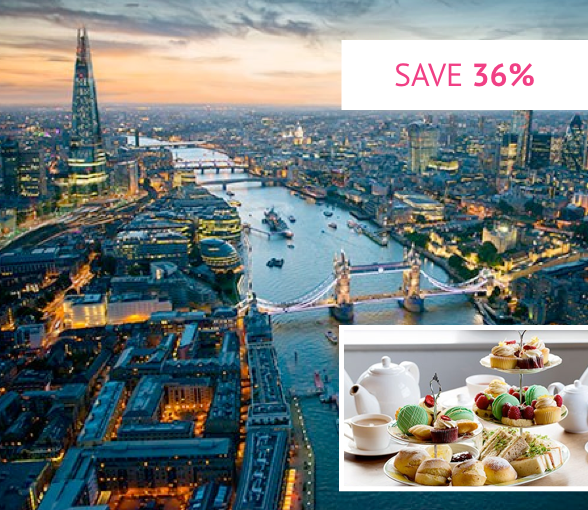 The View from The Shard with Luxury Afternoon Tea for Two - Was £123.90 With code £79.20