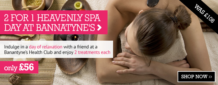 2 for 1 Heavenly Spa Day at Bannatyne's Health Clubs only £56