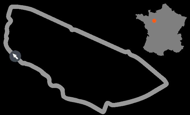 The Circuit De La Sarthe Home Of Le Mans 24 Hours Race Is